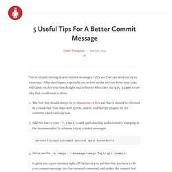 5 Useful Tips For A Better Commit Message