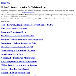 22 Useful Bootstrap Skins for Web Developers