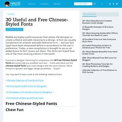 30 Useful and Free Chinese-Styled Fonts