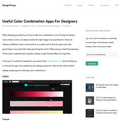 Useful Color Combination Apps For Designers