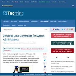 30 Useful Linux Commands for System Administrators