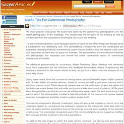 Useful Tips For Commercial Photography