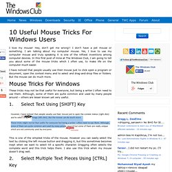 10 Useful Computer Mouse Tricks For Windows 7 Users