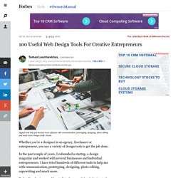 100 Useful Web Design Tools For Creative Entrepreneurs