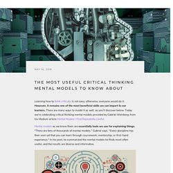 The Most Useful Critical Thinking Mental Models to Know About