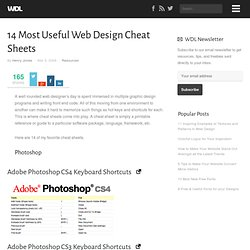 14 Most Useful Web Design Cheat Sheets