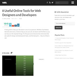 8 Useful Online Tools for Web Designers and Developers