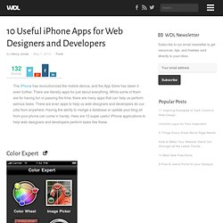 10 Useful iPhone Apps for Web Designers and Developers