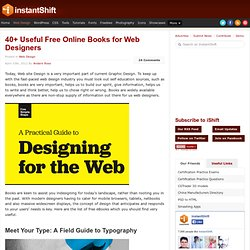40+ Useful Free Online Books for Web Designers | Web Design