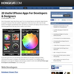 20 Useful iPhone Apps for Developers & Designers