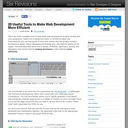 20 Useful Tools to Make Web Development More Efficient | Six Revisions - Useful information for Web Developers and Designers