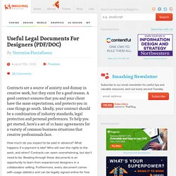 Useful Legal Documents For Designers (PDF/DOC)