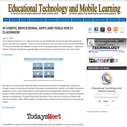 10 Useful Educational Apps and Tools for 1:1 Classroom
