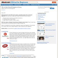 The 10 Most Useful Search Engines for Beginners, 2013