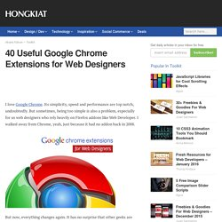 Useful Google Chrome Extensions for Web Designers