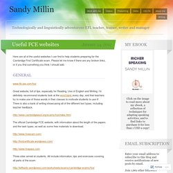 Useful FCE websites