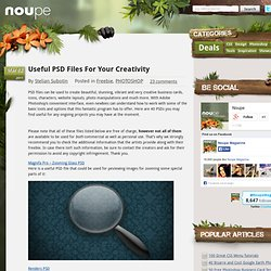 Useful PSD Files For Your Creativity - Noupe Design Blog