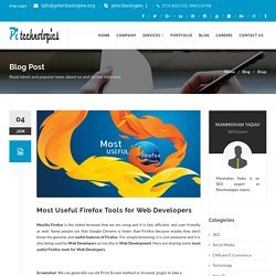 Most Useful Firefox Tools for Web Developers
