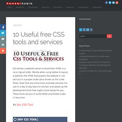 10 useful free CSS Tools and Services
