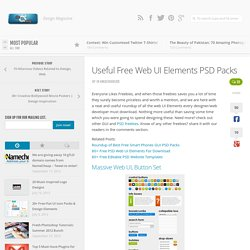Useful Free Web UI Elements PSD Packs | chethstudios Design Magazine