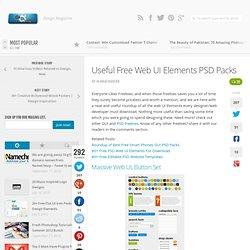 Useful Free Web UI Elements PSD Packs
