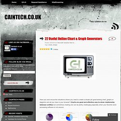Online Chart & Graph Generators « Caintech.co.uk