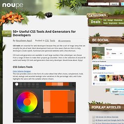 50 Useful CSS Tools And Generators for Developers - Noupe Design Blog