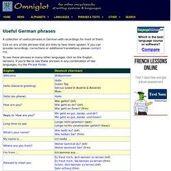 Useful German phrases