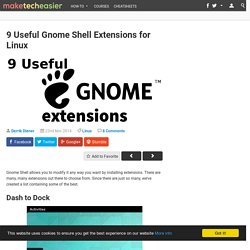9 Useful Gnome Shell Extensions for Linux