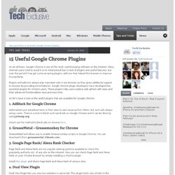 15 Useful Google Chrome Plugins