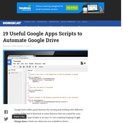 19 Useful Google Apps Scripts to Automate Google Drive