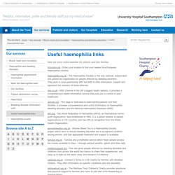 Useful haemophilia links