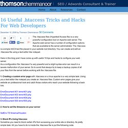 16 Useful .htaccess Tricks and Hacks For Web Developers