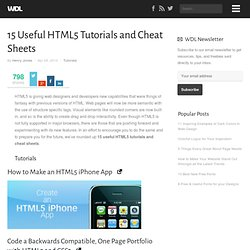 15 Useful HTML5 Tutorials and Cheat Sheets