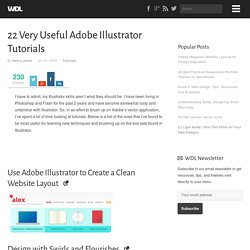 22 Very Useful Adobe Illustrator Tutorials | Tutorials