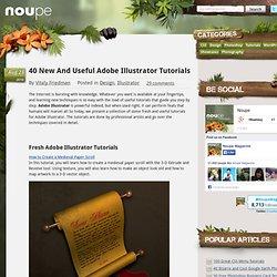 40 New And Useful Adobe Illustrator Tutorials