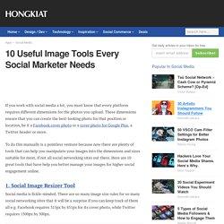 10 Useful Image Tools Every Social Marketer Needs - Hongkiat