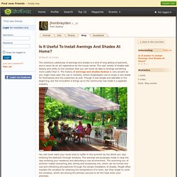 Is It Useful To Install Awning…