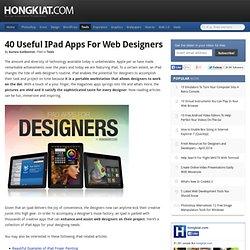 Useful iPad Apps for Web Designers