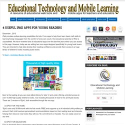 4 Useful iPad Apps for Young Readers