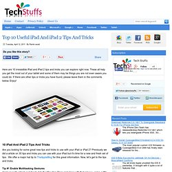 Top 10 Useful iPad And iPad 2 Tips And Tricks | Tech Stuffs