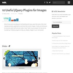 10 Useful jQuery Plugins for Images | Freebies