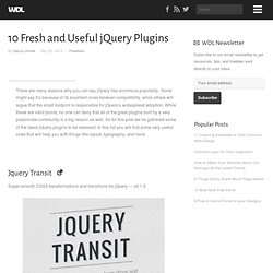 10 Fresh and Useful jQuery Plugins | Freebies