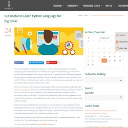 Is it Useful to Learn Python Language for Big Data