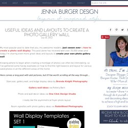 Useful Ideas and Layouts to Create a Photo Gallery Wall - Jenna Burger