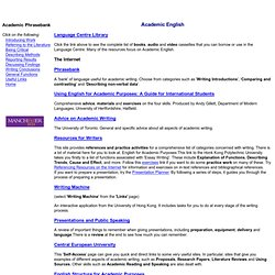 Academic English Useful links