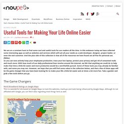 Useful Tools for Making Your Life Online Easier - Noupe Design Blog