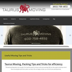 Useful Moving Tips and Tricks - Taurus Moving