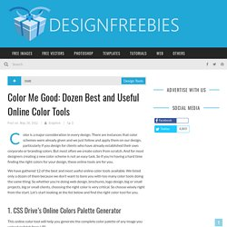 Color Me Good: Dozen Best and Useful Online Color Tools