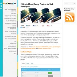 20 Useful Free jQuery Plugins for Web Developers